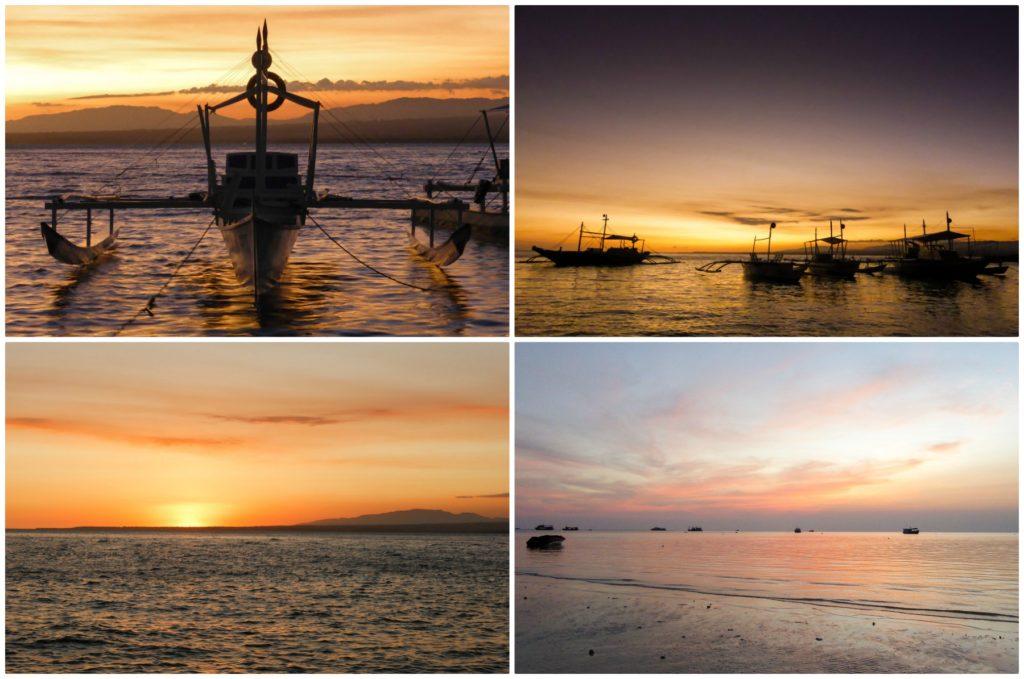 magnifique coucher du soleil apo island