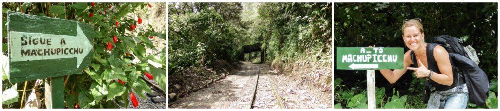 route a travers la voie ferré pour le machu picchu